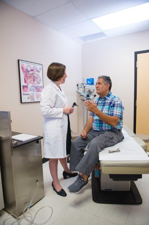 Man getting examined | Scottsdale ENT