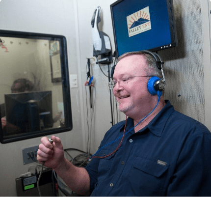 Hearing test booth
