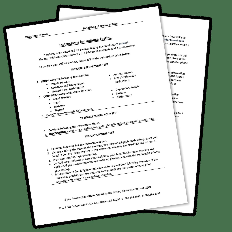 Balance testing PDF